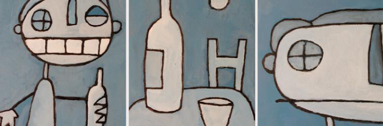 il brindisi – trittico blu